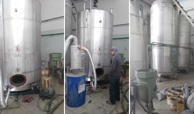 Пескоструйная обработка резервуаров